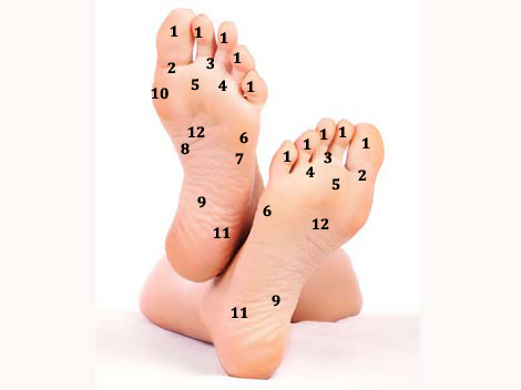 12 punktu terapijas punkti uz Tavām pēdām – Uzlabo savu pašsajūtu ar punktu terapiju!