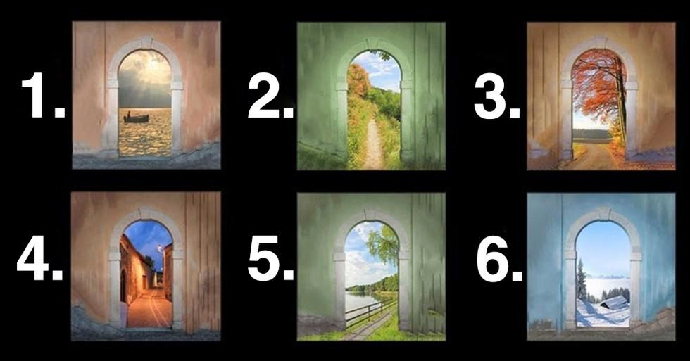 Izvēlies vienas no sešām durvīm, kas atklās ko interesantu par tavu raksturu