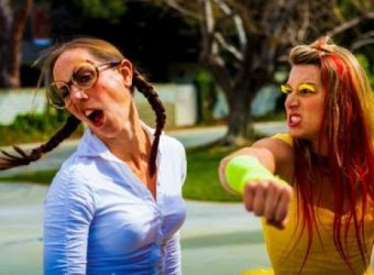 9d9a99154561811bf976156ddb8f40e1-girls-recreate-family-guy-epic-chicken-fight-in-live-action