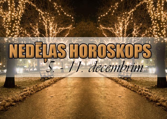 Nedēļas horoskops 5. – 11. decembrim