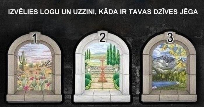 TESTS. Izvēlies logu un uzzini, kas tev dzīvē ir vissvarīgākais!