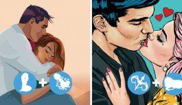 10 Zodiaka zīmju pāri, kuru starpā valda sapratne, kaisle un romantika